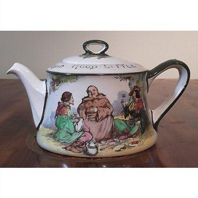 Antique Royal Doulton Robin Hood Teapot