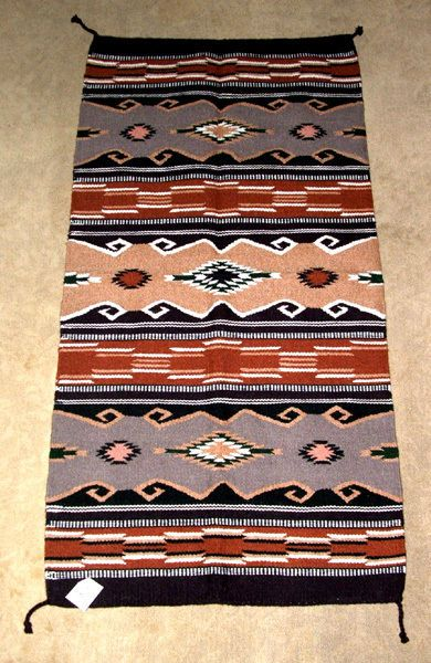 """A heavyweight handwoven 32x64"""" wool rug. Similar to those made by Native Americans in the southwest. Colorful & durable. So pretty, many hang these on their walls as tapestries! $79.95 #rug #southwestern #homedecor #throwrug #handwoven"""