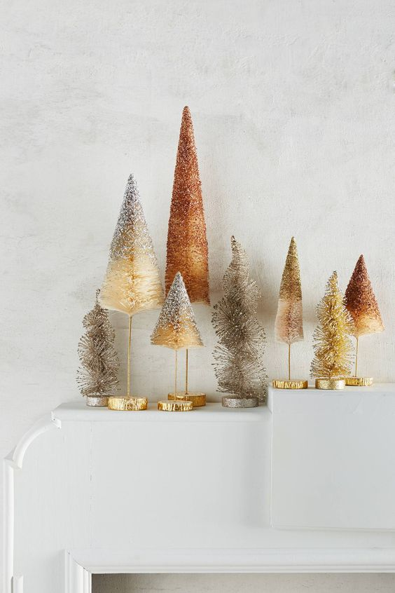 Ombre bottlebrush trees