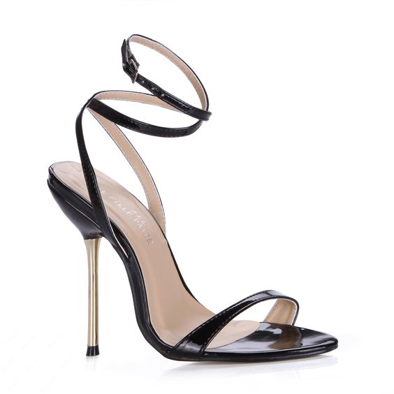 Elegant Black Platform Stiletto Heel Dress Sandals | Pump ...