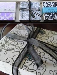 I am completely obsessed with this next idea, and actually, just might go make these adorable coasters myself to have in our office! Also love the idea of making each bundle different, with modern graphic prints. GREAT way to add a pop to your decor. Here is the play by play... From the crafter...I think…