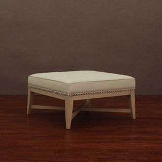 @Overstock - Enhance your home and living decor with the uniquely styled Valencia nail head leather ottoman. This leather ottoman features an antique ivory color and nickel-finished individual nail heads. http://www.overstock.com/Home-Garden/Valencia-Antique-Ivory-Leather-Nail-Head-Ottoman/6328200/product.html?CID=214117 $160.99