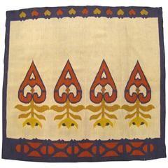 Vintage Turkish Kilim Small Square Decorative Oriental Rug