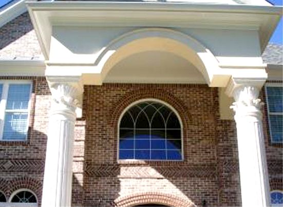 Arched Top Window Grids Striking Circle Top Shaped