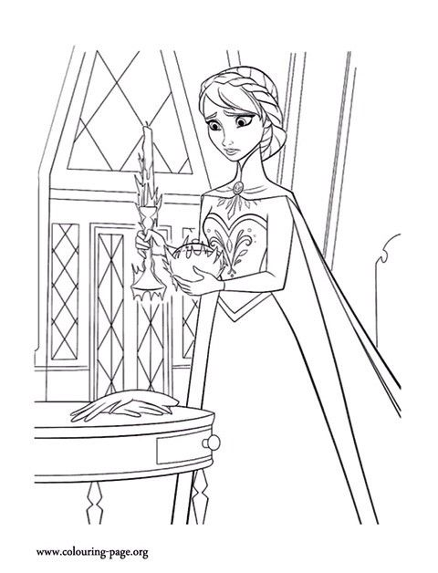 Frozen Elsa Coloring Page Let It Go Di 2020