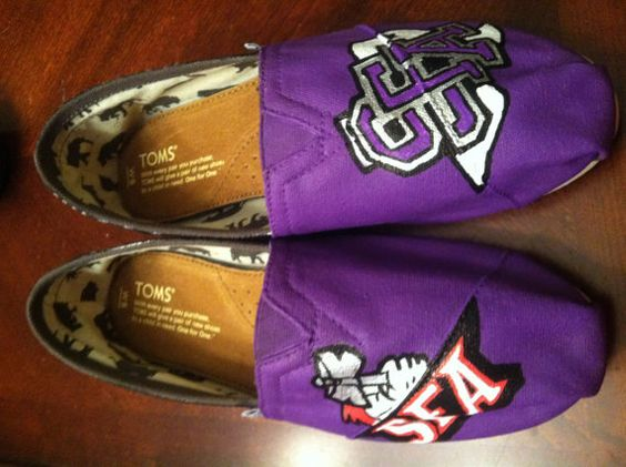 TOMS SFA Lumberjacks Women's Shoes by PersonalizedShoes on Etsy, $95.00