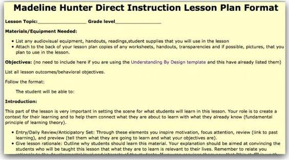 Bryan Edwards (bedwards2051) on Pinterest - lesson plan objectives