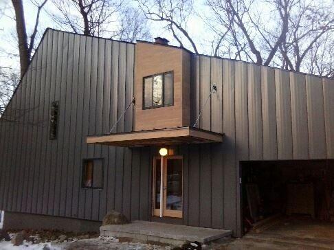 Standing Seam Siding Floating Roof Wood Work Doors Windows Soffit Yelp Metal Siding Standing Seam Siding