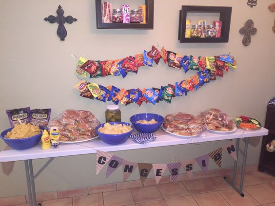 Concession Stand Table For Baby Shower