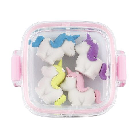 4 Pack 3d Erasers Assorted Erasers Cloth Bags School Bags
