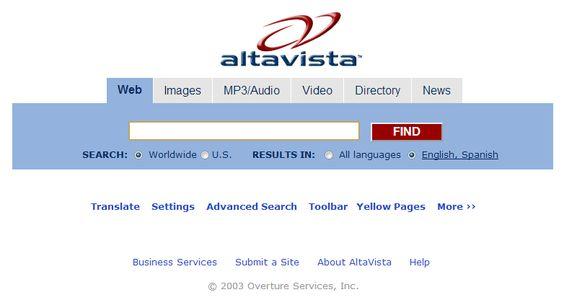 Esta é uma noticia triste, no dia 8 de Julho de 2013 o motor de pesquisa Altavista vai encerrar, podem achar que estou a ser piegas, mas este intemporal motor de pesquisa fez as minhas delicias, fui utilizador do Altavista durante muitos e longos anos, assisti ao seu nascimento (1995),