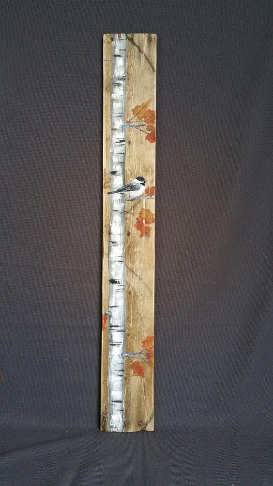 Caída reclamado madera plataforma arte por TheWhiteBirchStudio