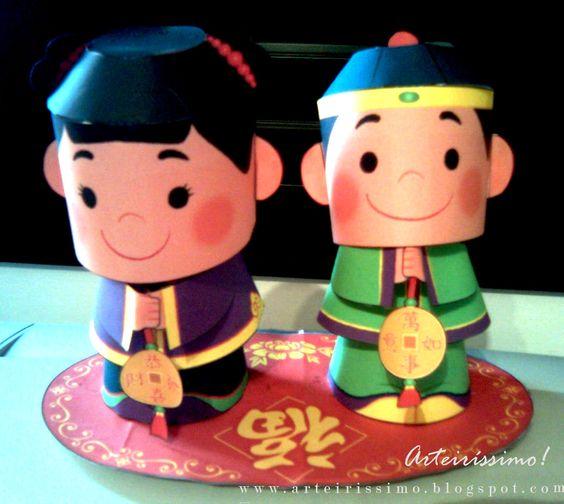Bonecos mensageiros da alegria para imprimir e montar.