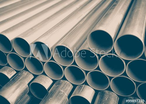 Close Up Stack Of Construction Metal Pipes 画像あり 金属