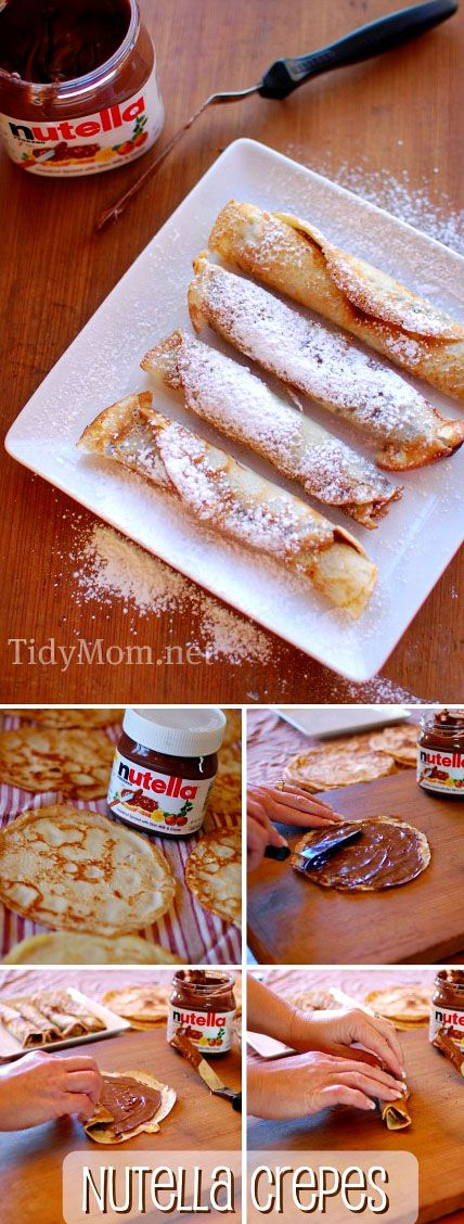How to make Nutella Crepes.  Get all the instructions at TidyMom.net