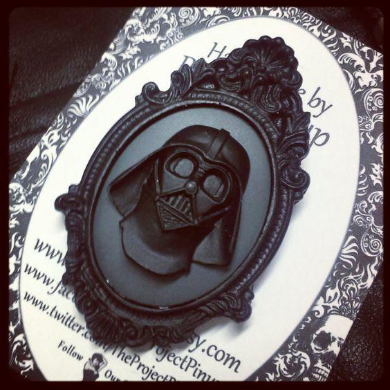 Darth Vader Fancy Cameo Brooch on Etsy, $12.00