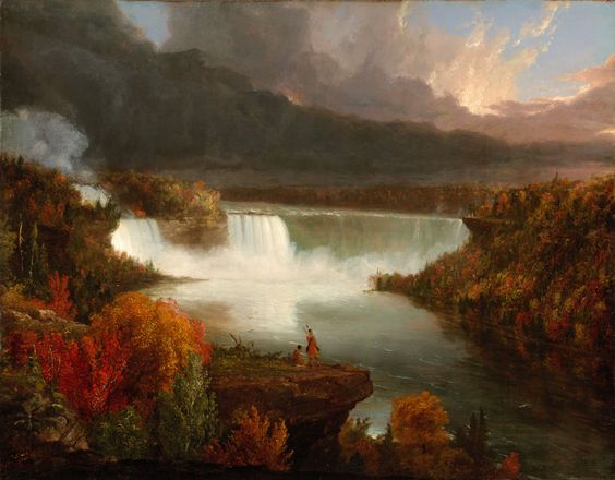 """Distant View of Niagara Falls,"" Thomas Cole, 1830, oil on canvas, 18 7/8 x 23 7/8"", Art Institute of Chicago."