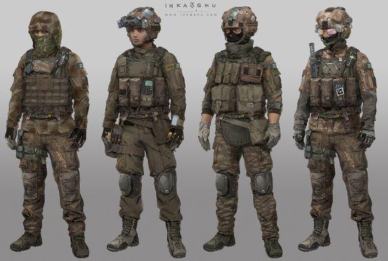 ArtStation - FPS Game Characters, Inka Shu