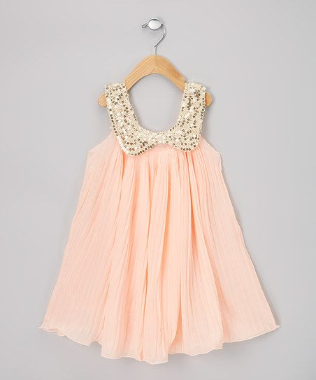 Sweet Cheeks Light Pink Pleat Sequin Swing Dress - Infant- Toddler ...
