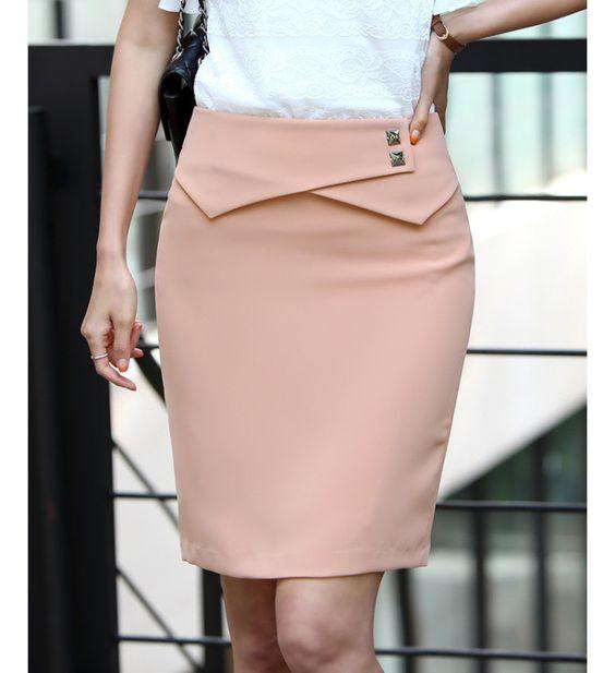 2013 new office lady peplum formal skirts straight pencil cotton skirt plus size XXXL skirts/saia women 4 colors.Free shipping!! $13.60