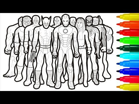 The Marvel Coloring Pages Youtube Marvel Coloring Coloring Pages Marvel