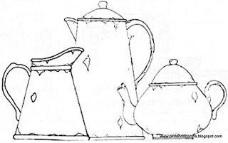 Artes da Nil - Riscos e Rabiscos: Bules, xicaras e chaleiras