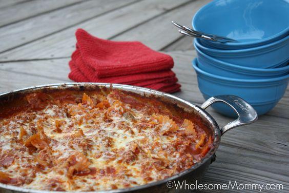Skillet Lasagna - Real Food for Real Families