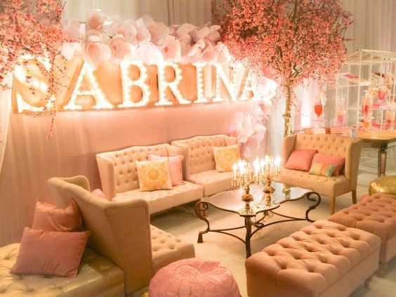 Marquee Lights spell out the name of the special guest for Bat Mitzvah, Bar Mitzvah, Sweet Sixteen or Quinceañera.