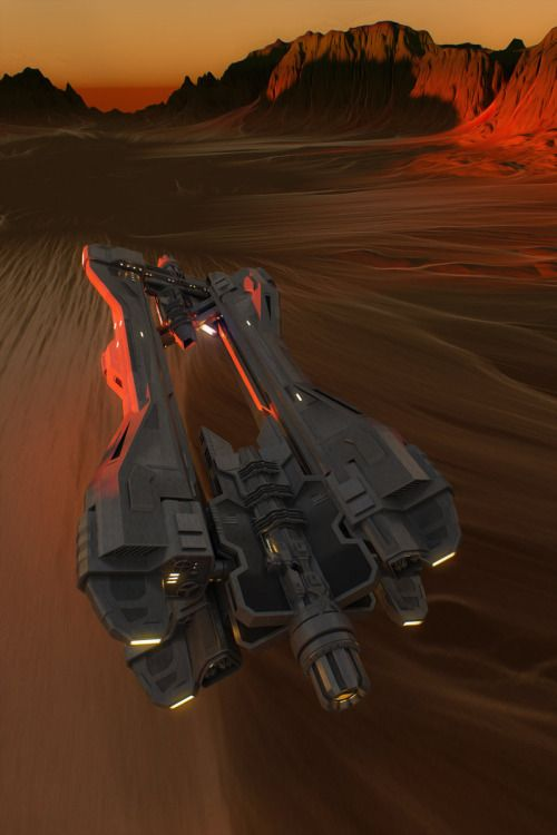 ArtStation - SUBDIVIDE: sunset racer, by Efflam MercierMore space ship here.