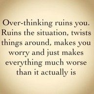 Worry steals from you: