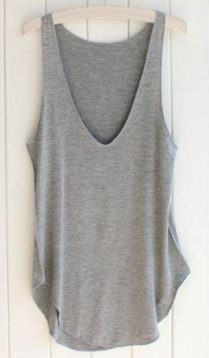 loose fitting basic tank top