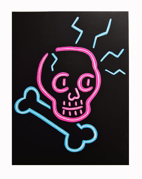 How To Paint A Fake Neon Lights Sign Tiktok Art Diy Trend Now Thats Peachy Neon Light Signs Black Paper Drawing Art