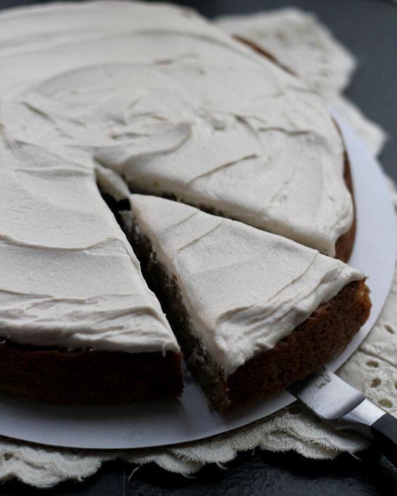 Zucchini-Walnut Cake with Cinnamon Honey Buttercream