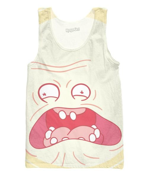 Rick and Morty screaming sun tank top