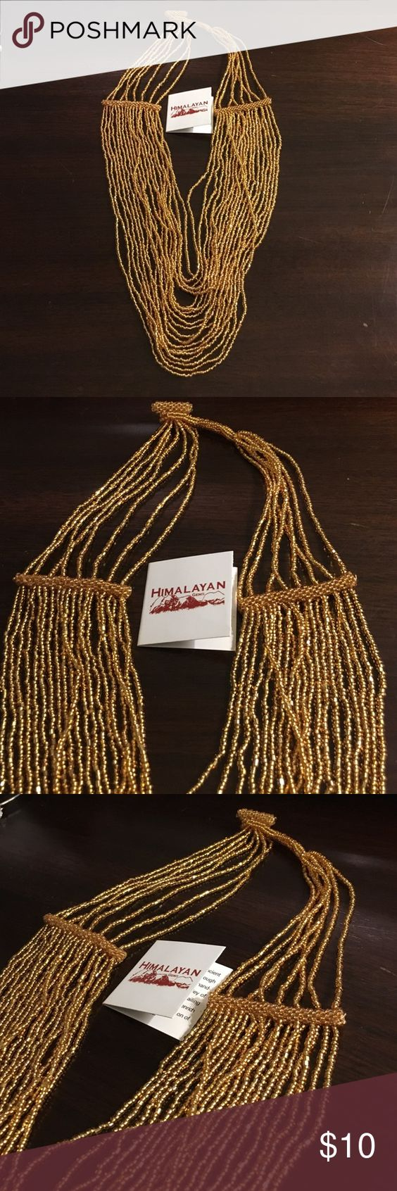 Gold beaded necklace Bindy Wrap Bracelet. By Himalayan Gems. Originally purchased from HSN. Never worn. Himalayan Jems Jewelry Necklaces