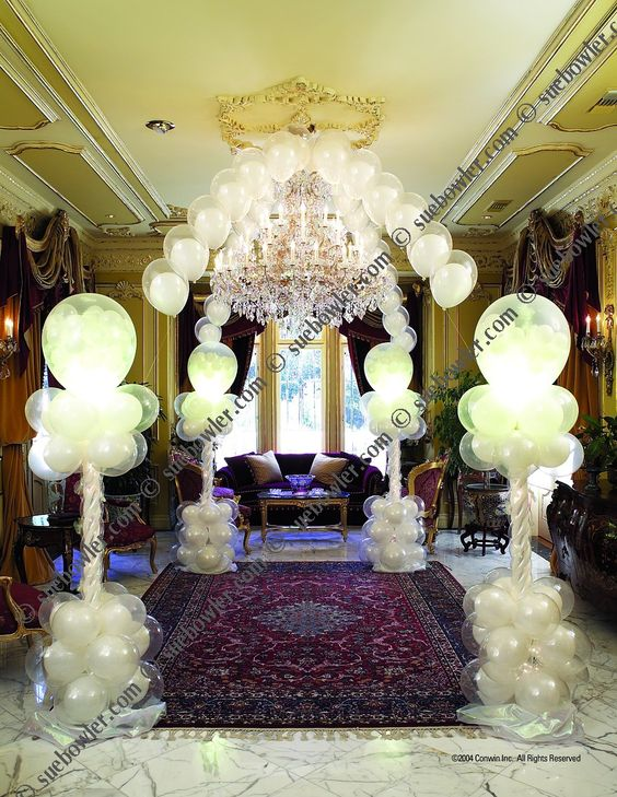 Wedding decor sue bowler balloon decor courses wedding for Balloon decoration courses