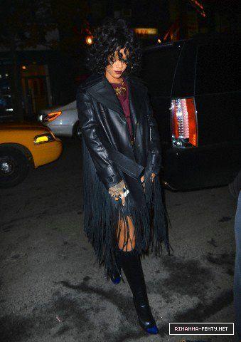 12-20-13 Rihanna arrives at Pink Elephant nightclub in NYC - 004 - Rihanna-Fenty.net
