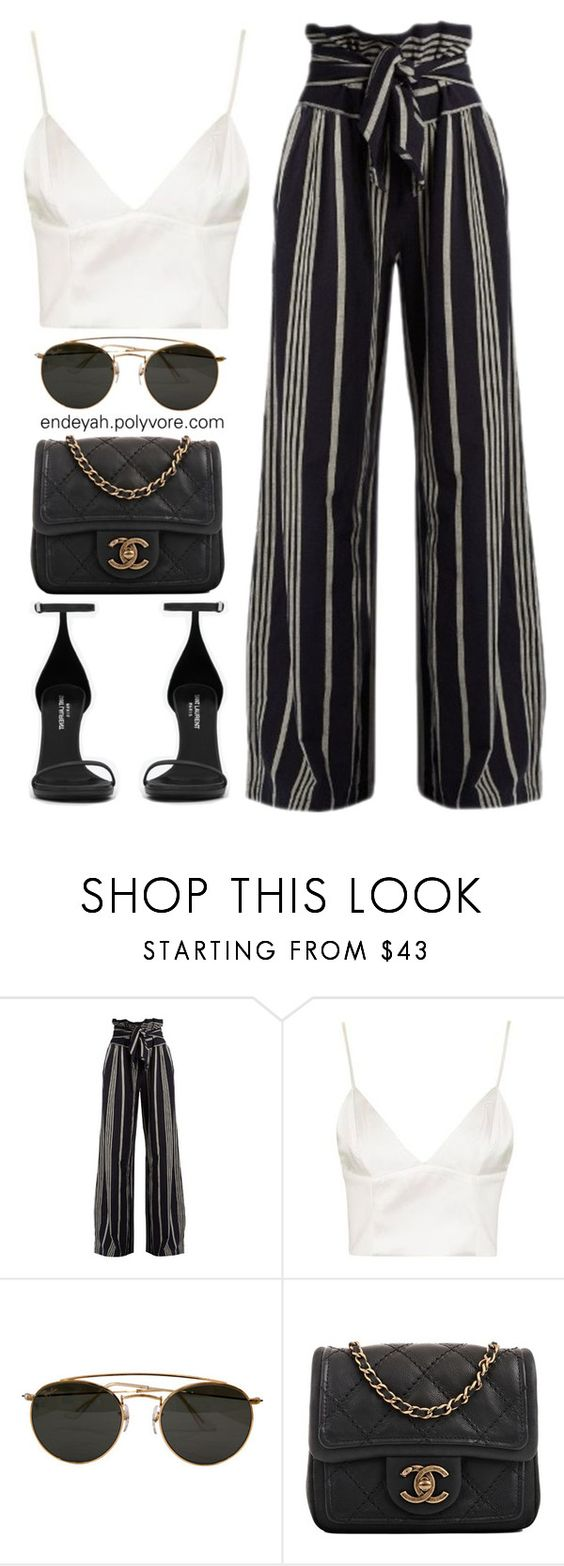 Now That I Know-Rae Sremmurd by endeyah ❤ liked on Polyvore featuring ace jig, Topshop, Ray-Ban, Chanel and Yves Saint Laurent