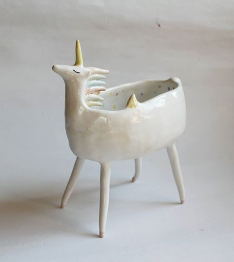 Unicorn bowl by clayopera: