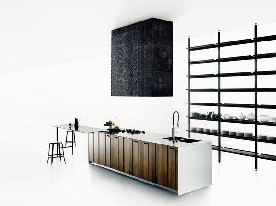 küche aus massivem holz mit kücheninsel aprile by boffi design, Innenarchitektur ideen