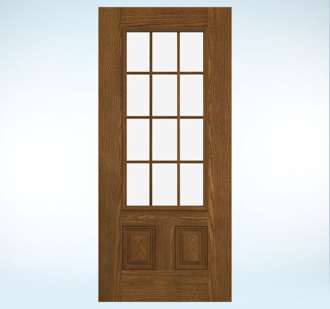 Doors glass panels and door design on pinterest for Jeld wen exterior doors
