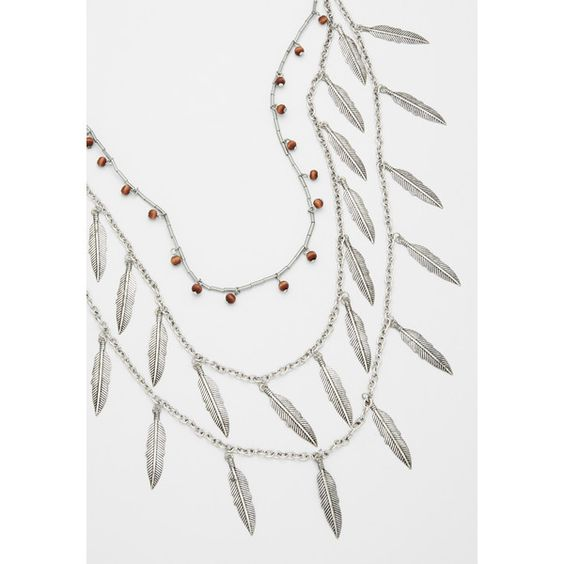 maurices Layered Necklace With Metal Feathers And Wooden Beads ($9.98) ❤ liked on Polyvore featuring jewelry, necklaces, wooden bead necklace, metal jewelry, maurice jewelry, feather necklace and metal feather necklace