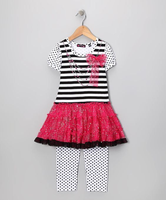 Fuchsia Tutu Dress & Leggings - Toddler by Show Your Stripes  Cute Toddler dress! ONLY $14.99