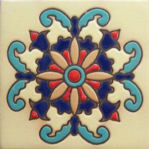 High relief Mexican tiles: rvl 171 centro