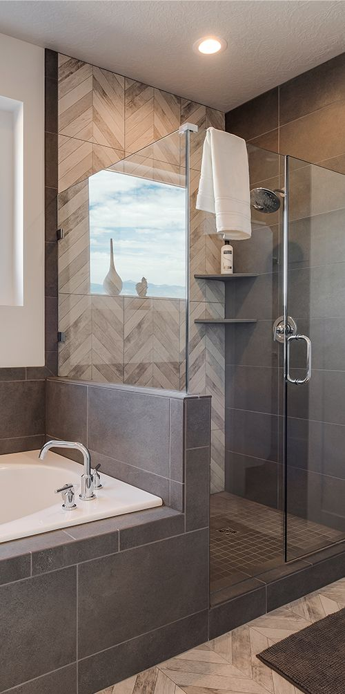 Beautiful Bathroom And Shower Design By Candlelight Homes
