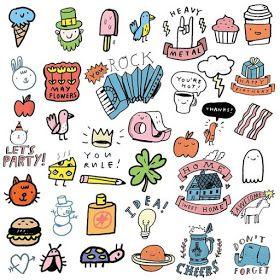 Littlebug 365 ภาพการ ต นลายเส นน าร กๆ Ideas วาดร ปลายเส น Cute Doodles Doodle Girl Cute Stickers