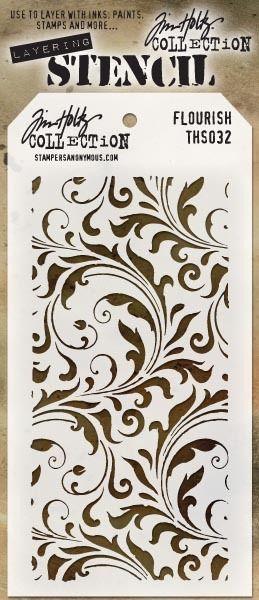 Stampers Anonymous Tim Holtz Stencils Flourish