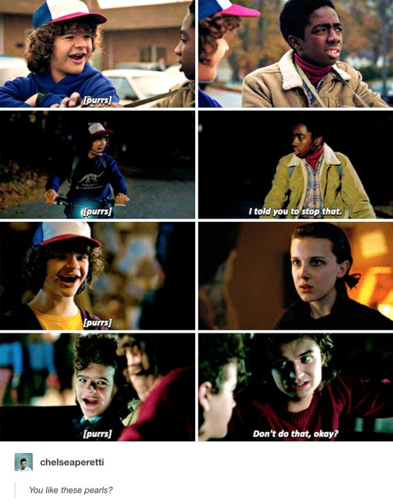 "Dustin Henderson and his purr..and ""pearls"" 