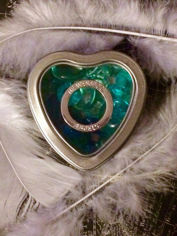 HALO in my Heart Angel's Keepsake Tin  Blue by HEAVENSBOOK on Etsy