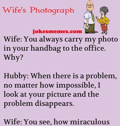 Pin On Husband Wife Funny Jokes Story